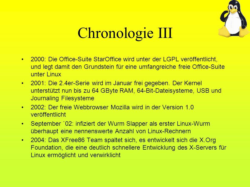 Chronologie III