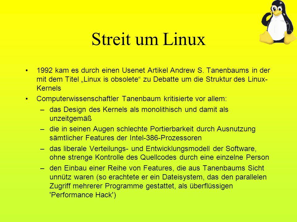 Streit um Linux