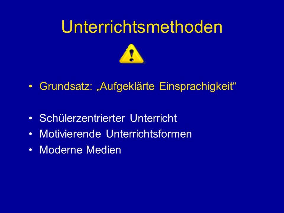 """Unterrichtsmethoden Grundsatz: """"Aufgeklärte Einsprachigkeit"""