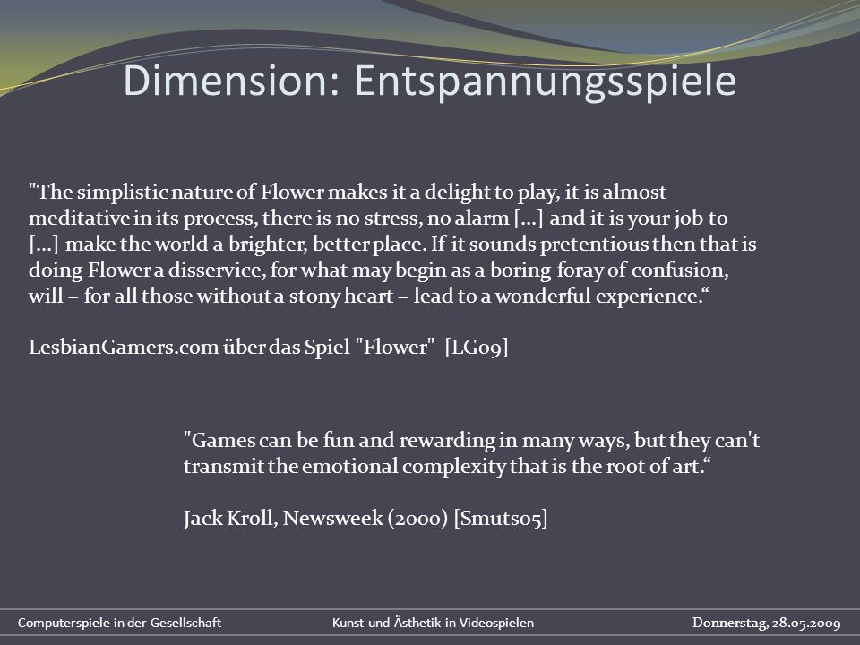 Dimension: Entspannungsspiele