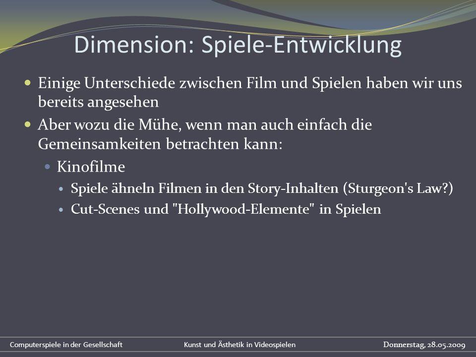 Dimension: Spiele-Entwicklung