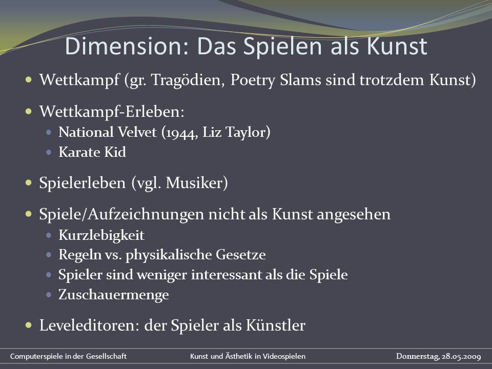 Dimension: Das Spielen als Kunst