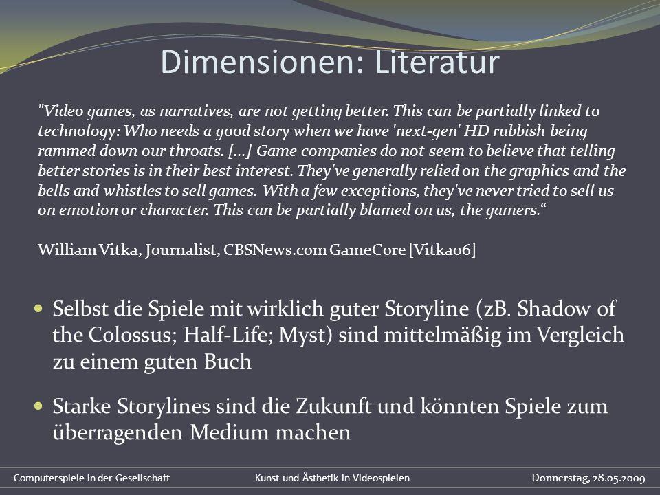 Dimensionen: Literatur