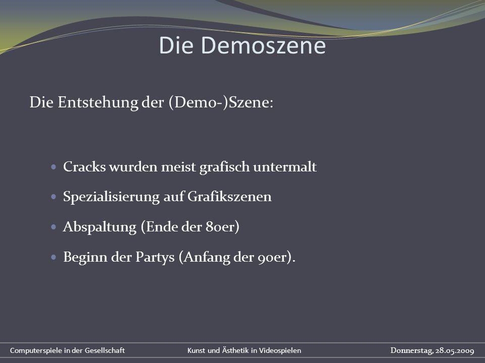 Die Demoszene Die Entstehung der (Demo-)Szene:
