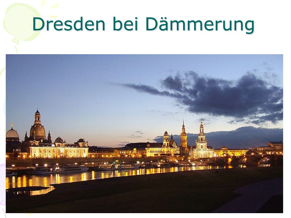 Dresden bei Dämmerung