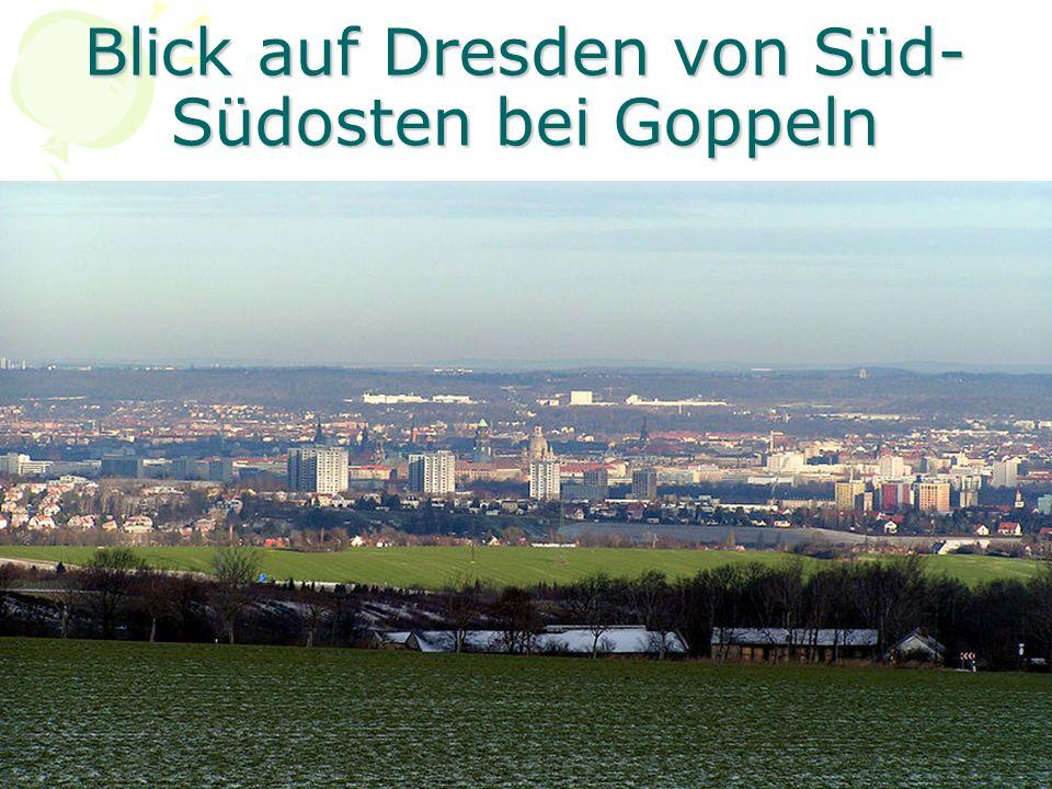Blick auf Dresden von Süd-Südosten bei Goppeln
