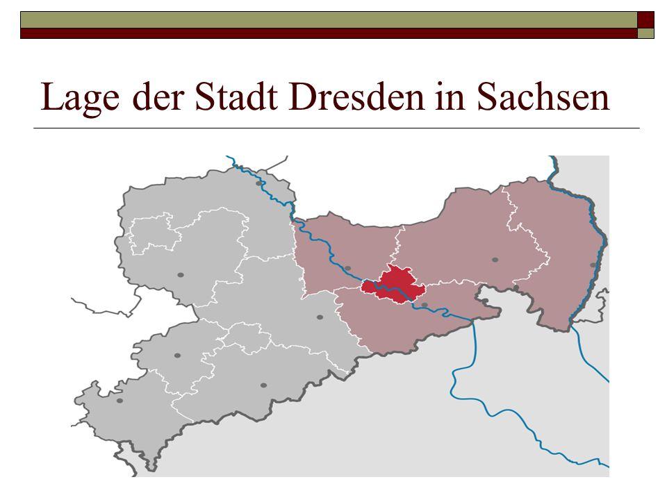 Lage der Stadt Dresden in Sachsen