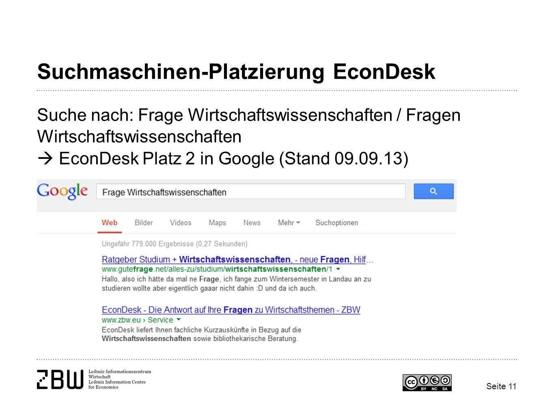 Suchmaschinen-Platzierung EconDesk