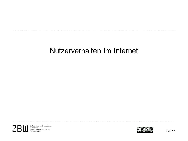 Nutzerverhalten im Internet
