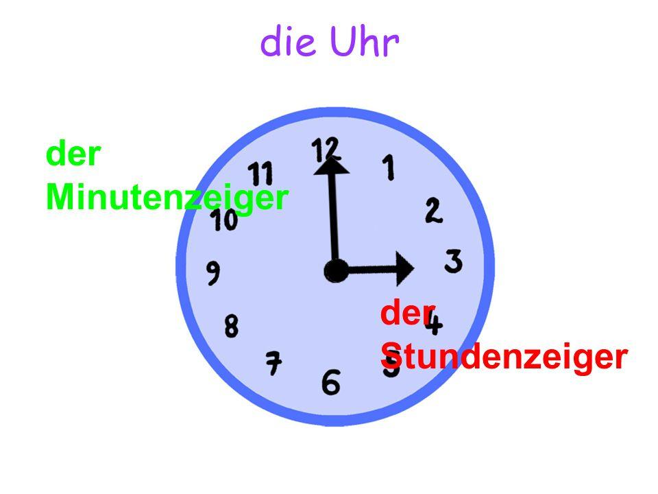 die Uhr der Minutenzeiger der Stundenzeiger