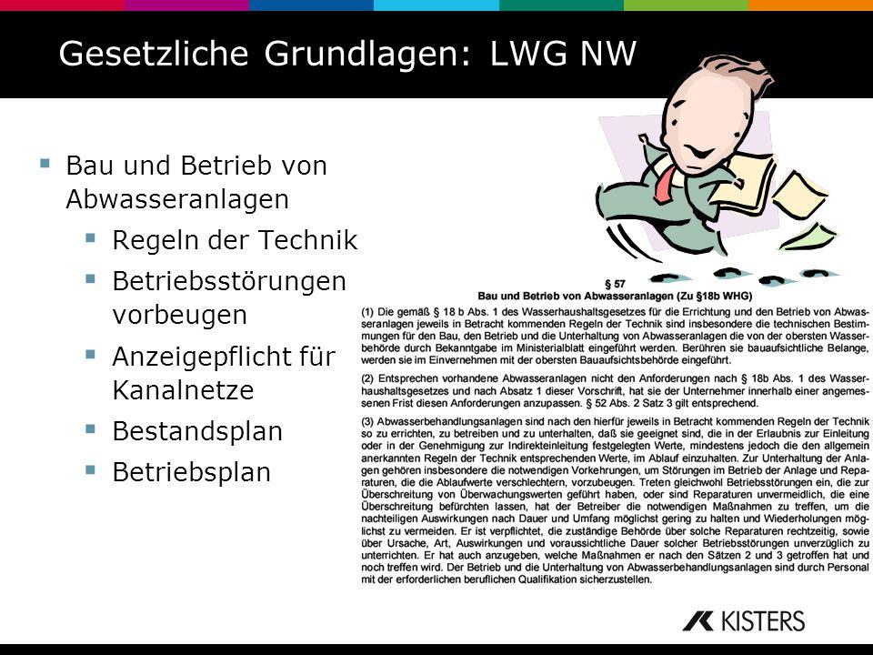 Gesetzliche Grundlagen: LWG NW