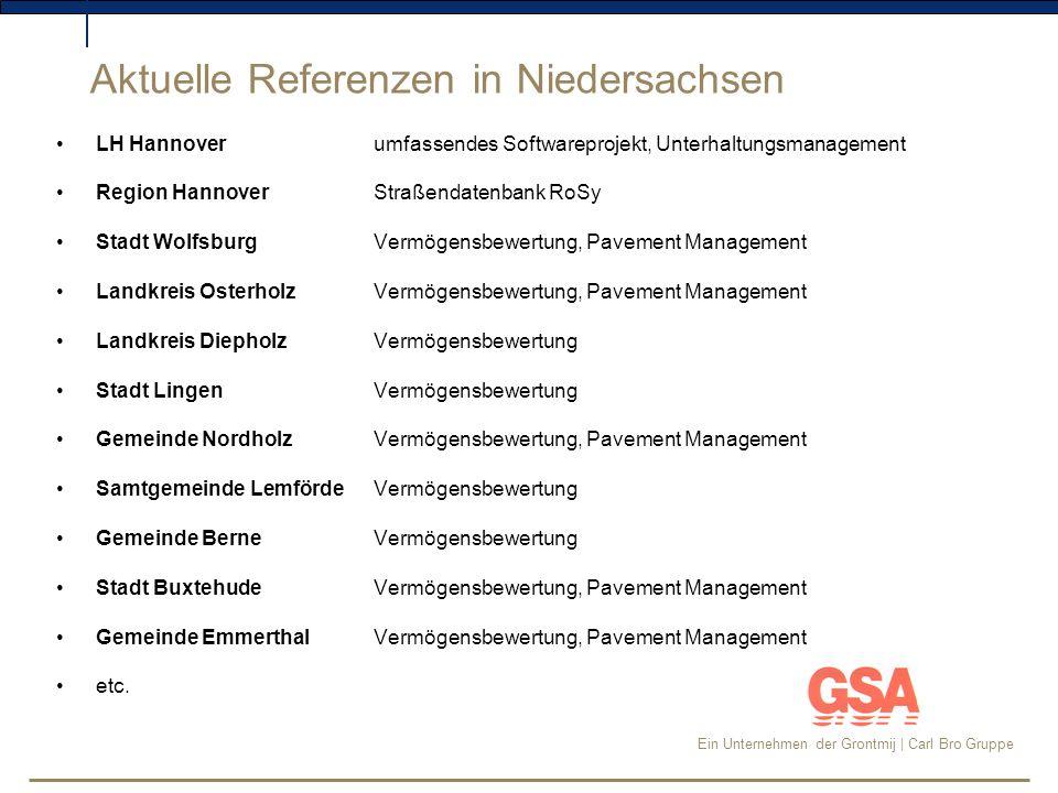 Aktuelle Referenzen in Niedersachsen