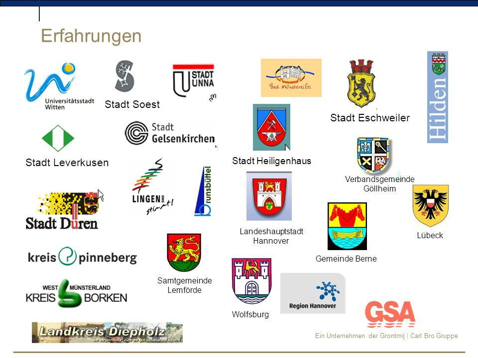 Erfahrungen Stadt Soest Stadt Eschweiler Stadt Leverkusen