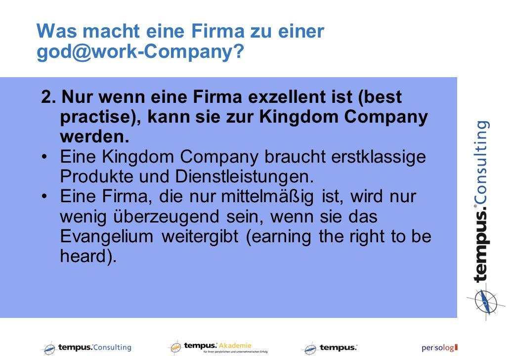 Was macht eine Firma zu einer god@work-Company