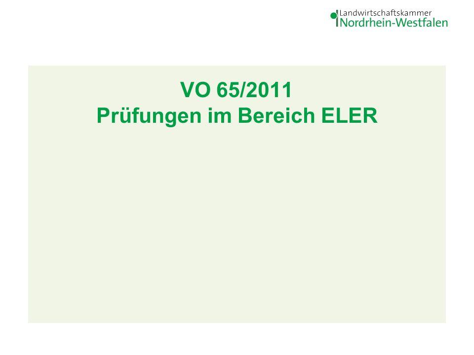 VO 65/2011 Prüfungen im Bereich ELER