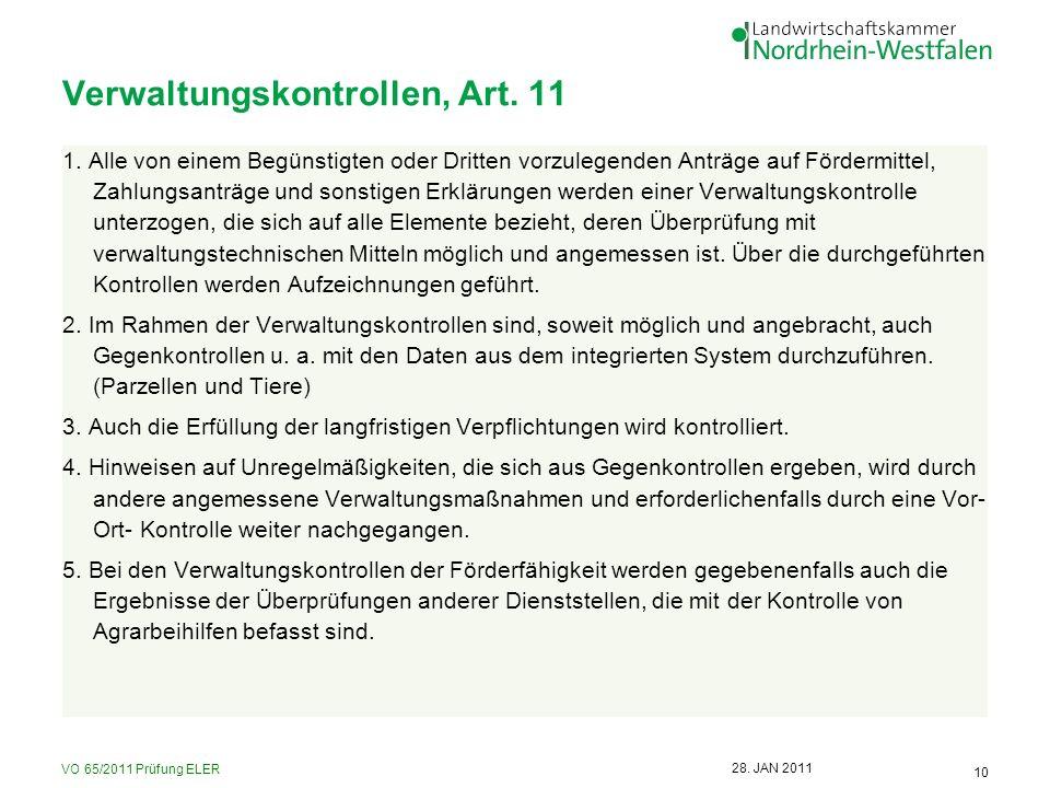 Verwaltungskontrollen, Art. 11
