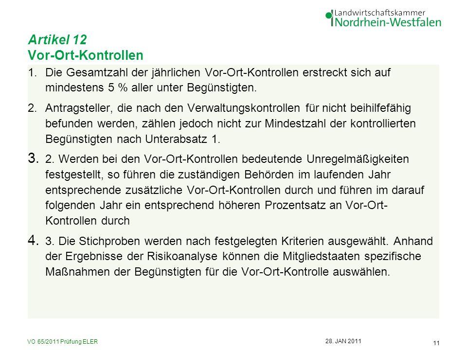 Artikel 12 Vor-Ort-Kontrollen