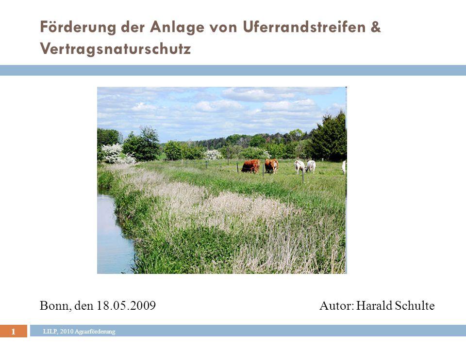 Förderung der Anlage von Uferrandstreifen & Vertragsnaturschutz