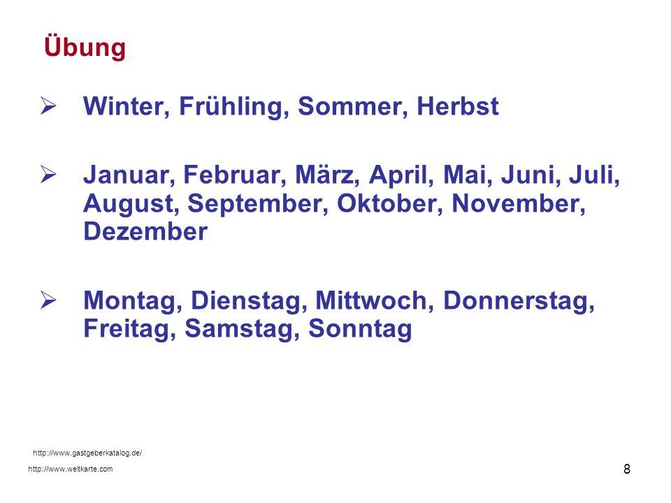 Winter, Frühling, Sommer, Herbst