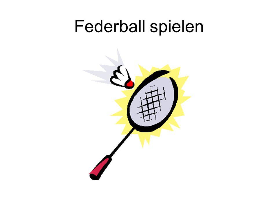 Federball spielen