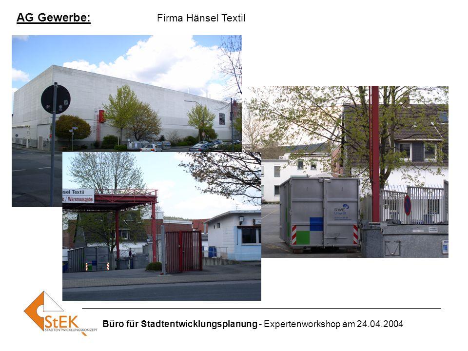 AG Gewerbe: Firma Hänsel Textil