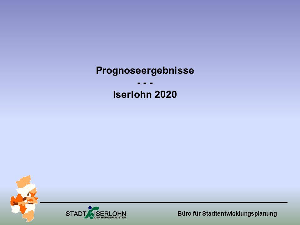 Prognoseergebnisse - - - Iserlohn 2020