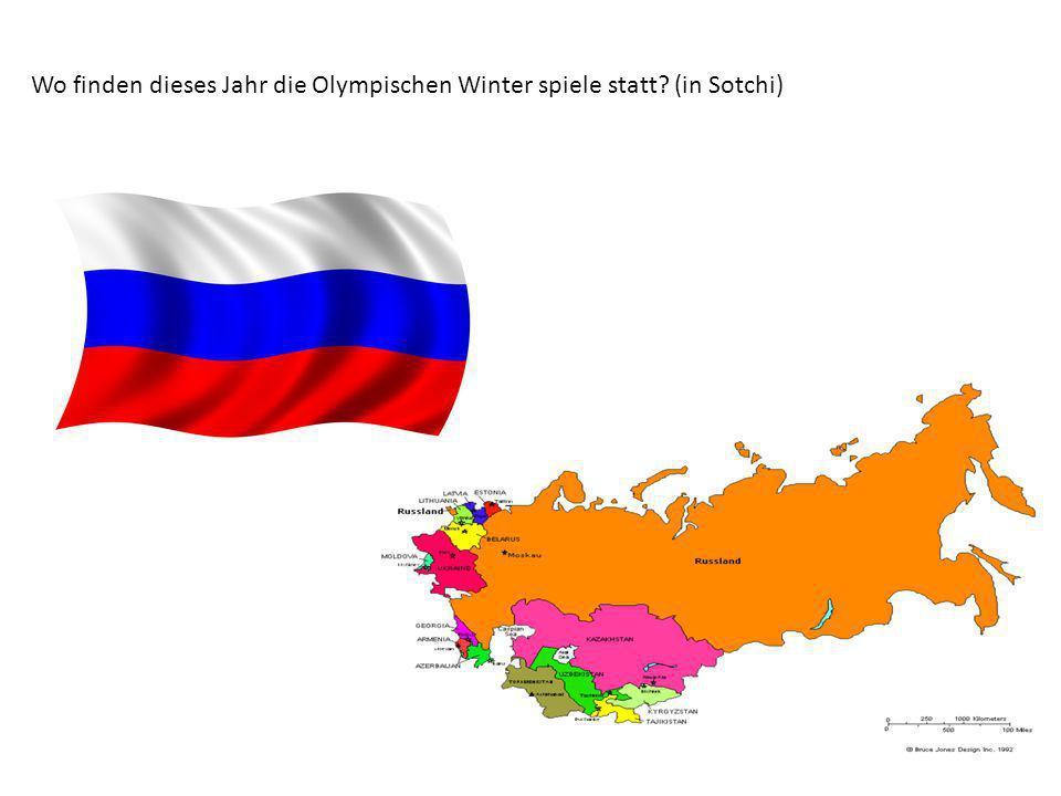 Wo finden dieses Jahr die Olympischen Winter spiele statt (in Sotchi)