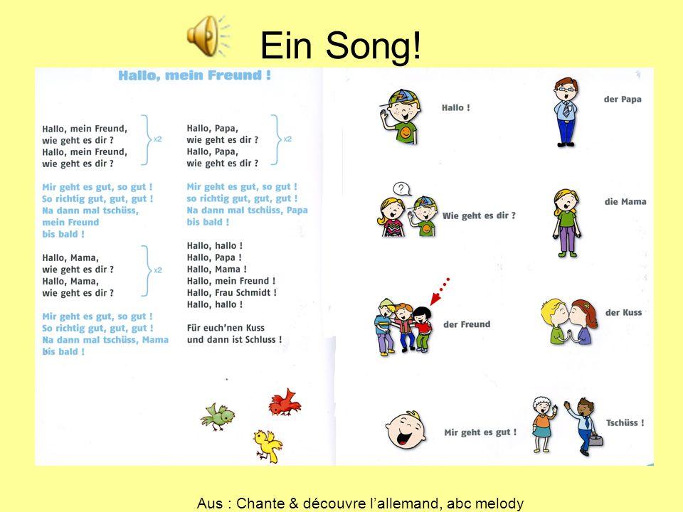 Aus : Chante & découvre l'allemand, abc melody