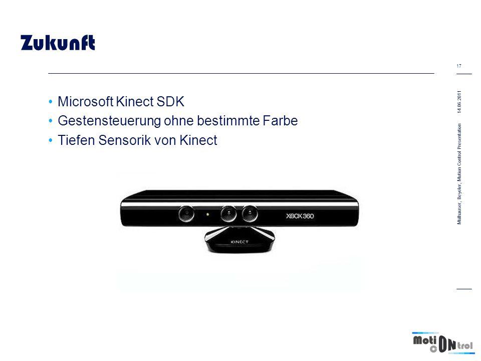 Zukunft Microsoft Kinect SDK Gestensteuerung ohne bestimmte Farbe