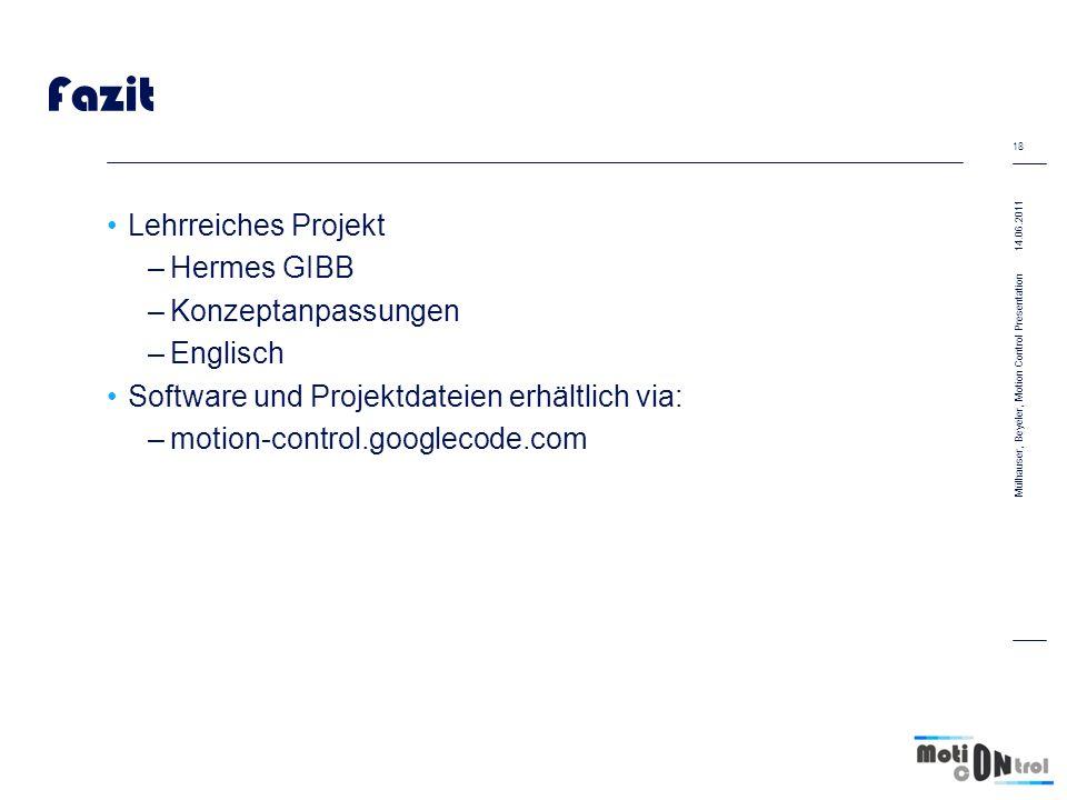 Fazit Lehrreiches Projekt Hermes GIBB Konzeptanpassungen Englisch