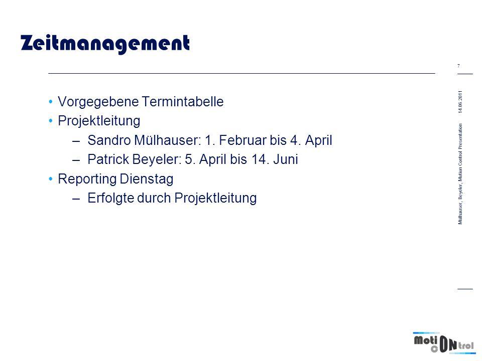 Zeitmanagement Vorgegebene Termintabelle Projektleitung