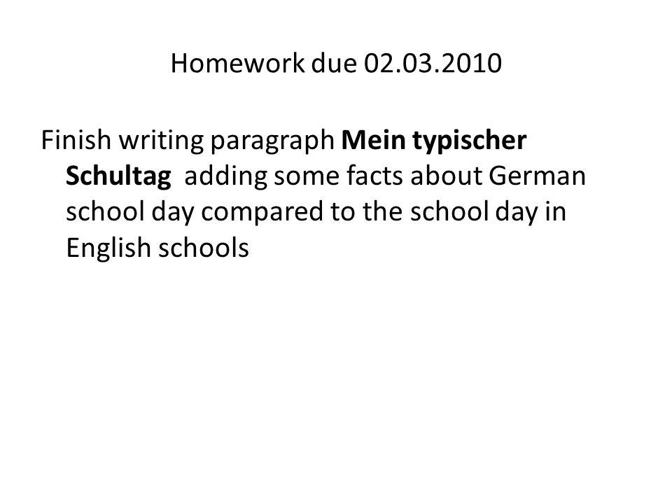 Homework due 02.03.2010