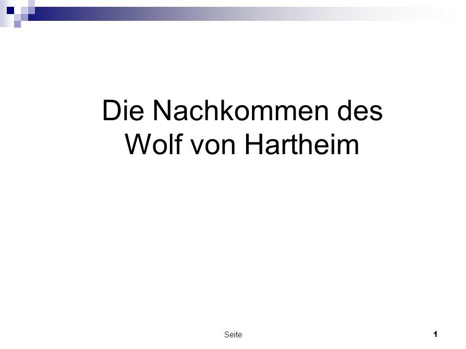 Die Nachkommen des Wolf von Hartheim