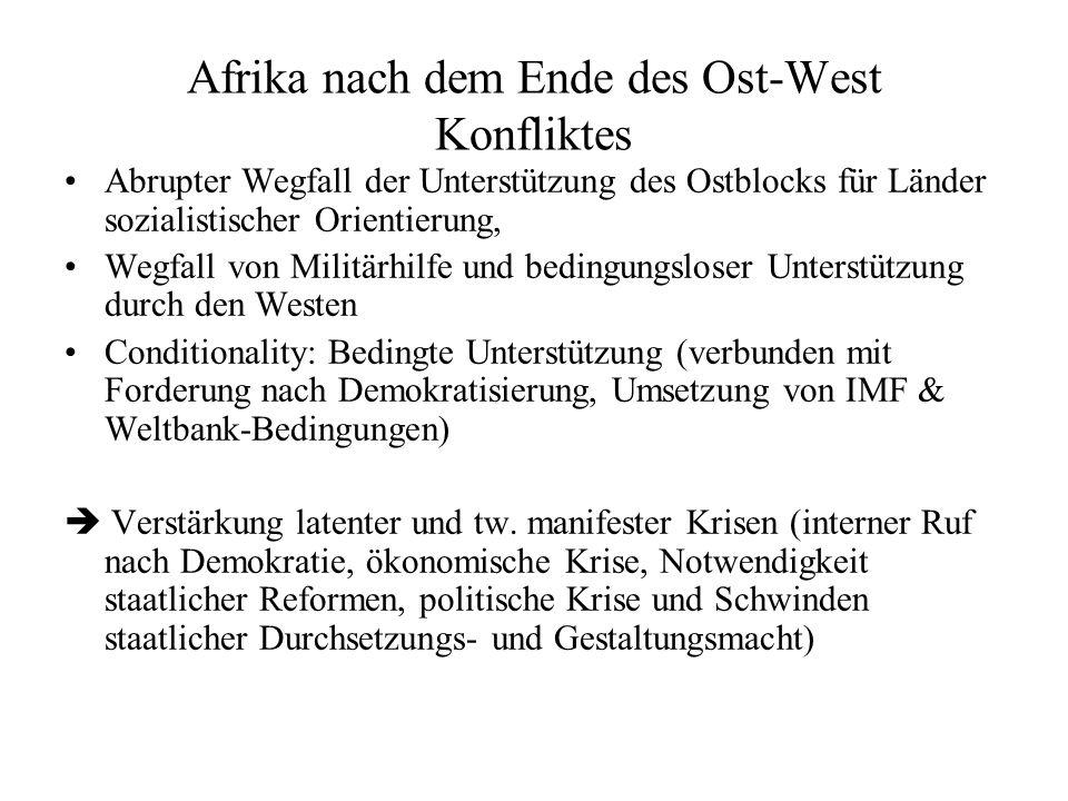 Afrika nach dem Ende des Ost-West Konfliktes