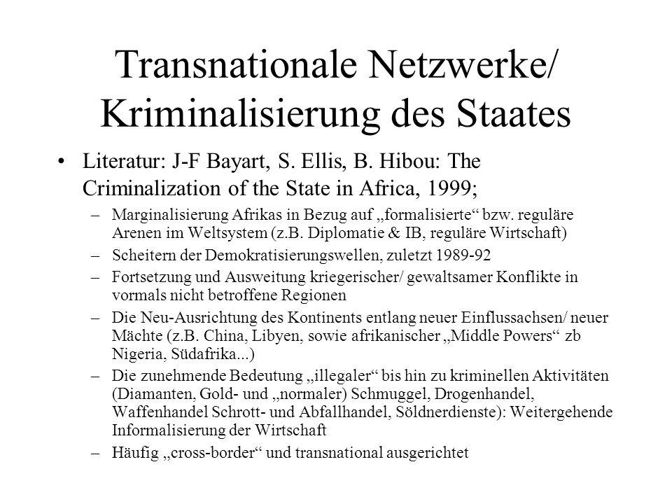Transnationale Netzwerke/ Kriminalisierung des Staates