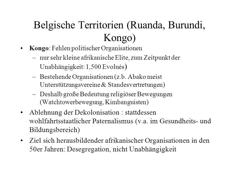 Belgische Territorien (Ruanda, Burundi, Kongo)
