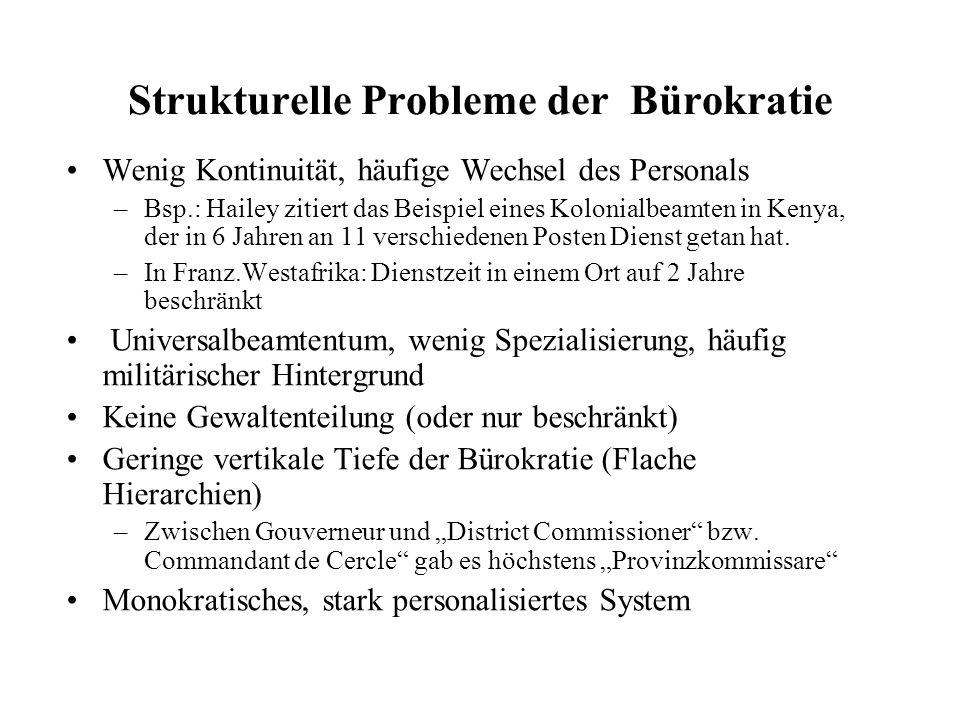 Strukturelle Probleme der Bürokratie