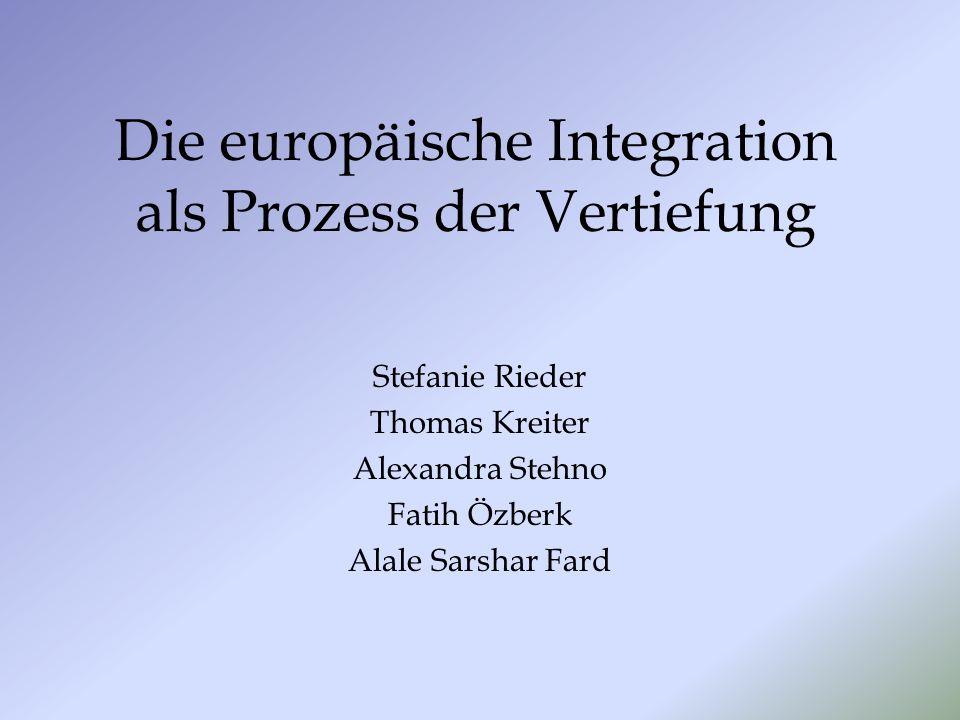 Die europäische Integration als Prozess der Vertiefung