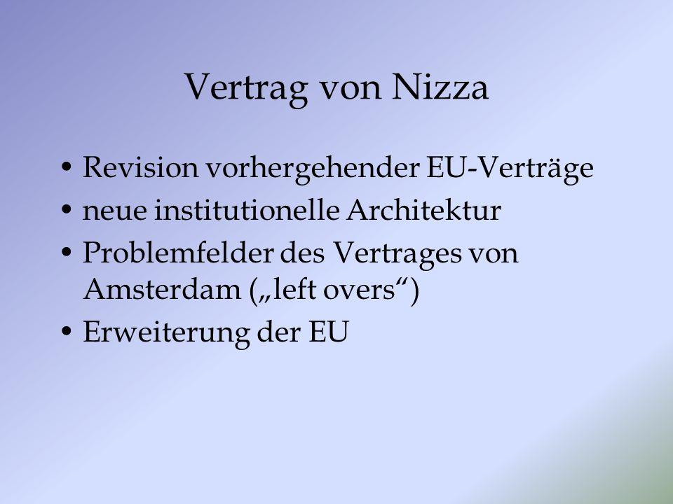 Vertrag von Nizza Revision vorhergehender EU-Verträge