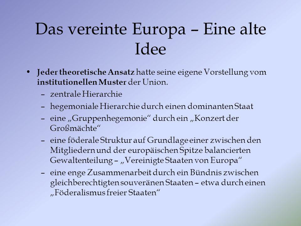 Das vereinte Europa – Eine alte Idee