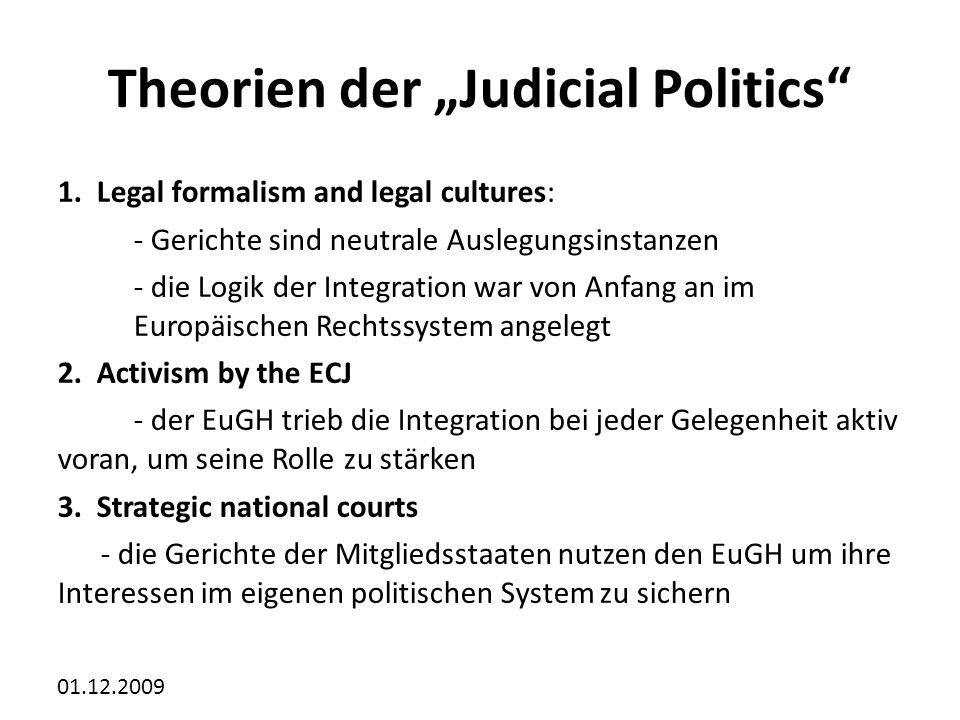 "Theorien der ""Judicial Politics"
