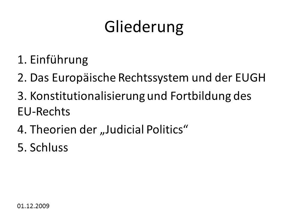 Gliederung 1. Einführung 2. Das Europäische Rechtssystem und der EUGH
