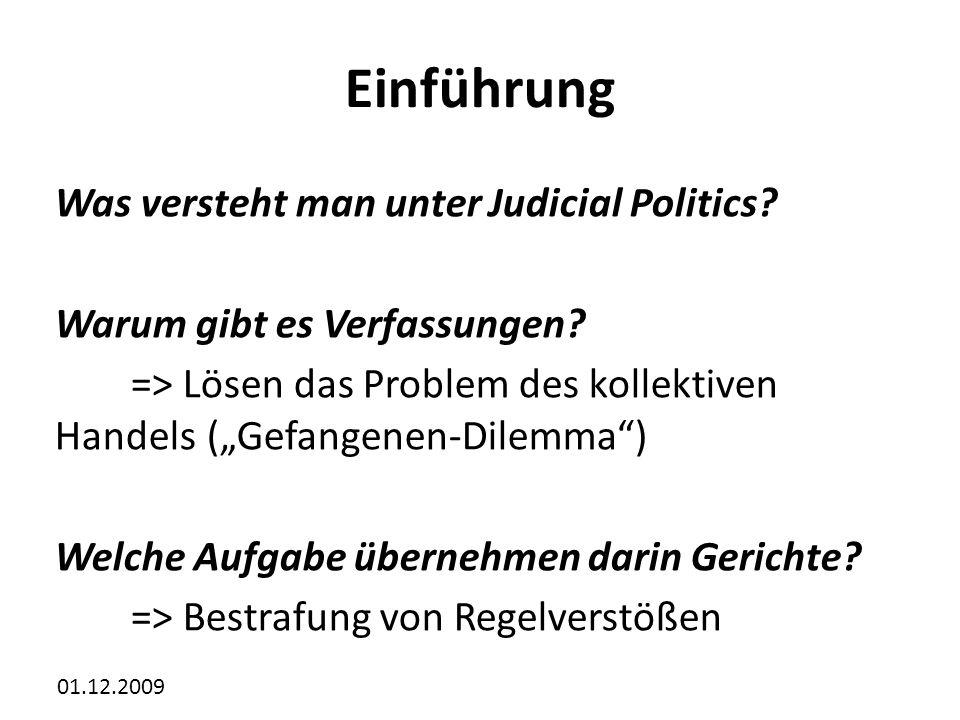 Einführung Was versteht man unter Judicial Politics