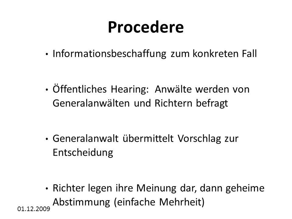 Procedere Informationsbeschaffung zum konkreten Fall