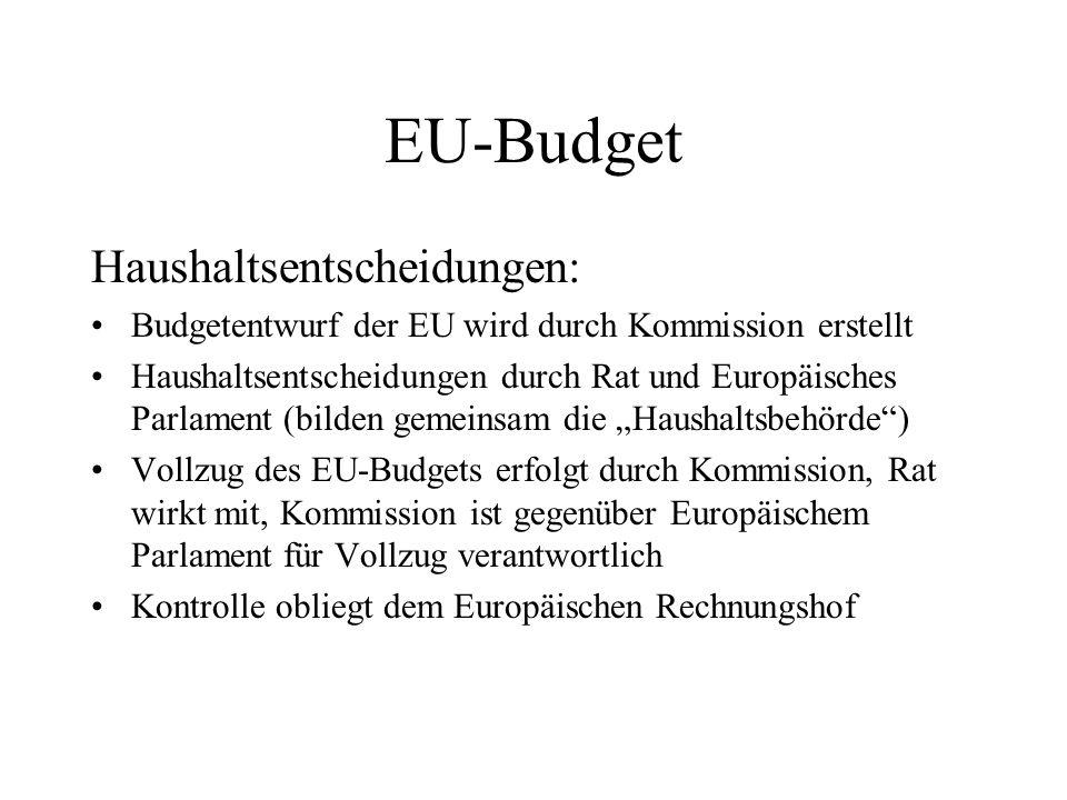 EU-Budget Haushaltsentscheidungen: