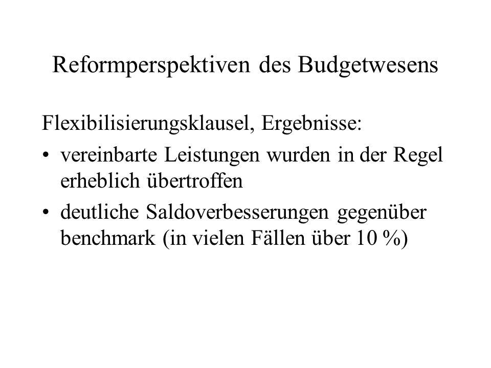 Reformperspektiven des Budgetwesens
