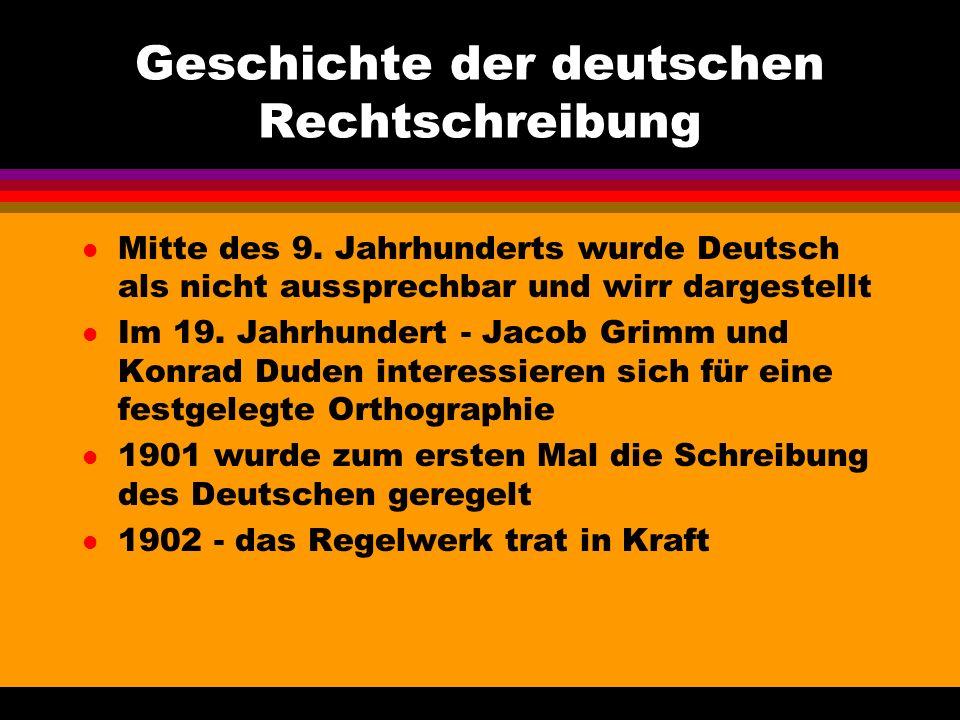 Geschichte der deutschen Rechtschreibung