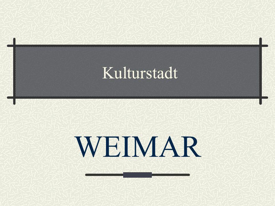 Kulturstadt WEIMAR
