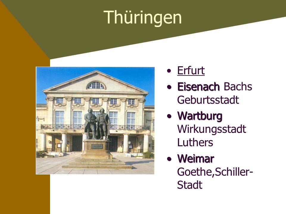 Thüringen Erfurt Eisenach Bachs Geburtsstadt