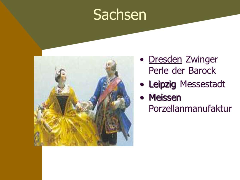 Sachsen Dresden Zwinger Perle der Barock Leipzig Messestadt